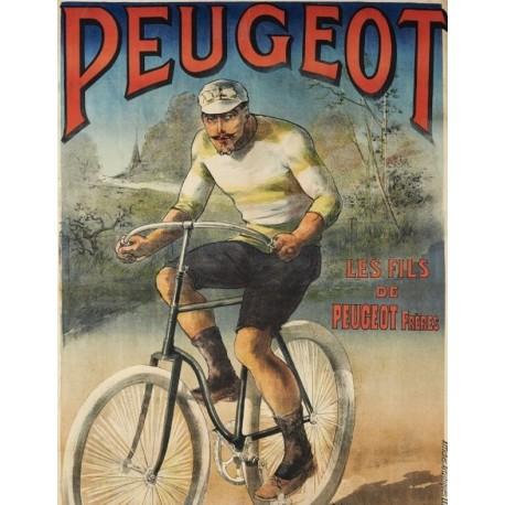 Affiche - Bicyclette (fin de série) - Peugeot