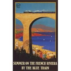 Affiche - Côte d'Azur - Le Train Bleu (fin de série) - PLM
