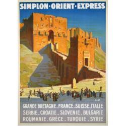 Affiche - La ville fortifiée d'Alep (fin de série) - Orient-Express
