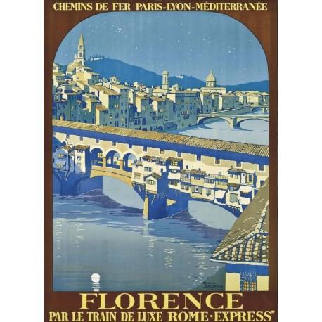 Affiche - Florence - Ponte Vecchio (fin de série) - PLM