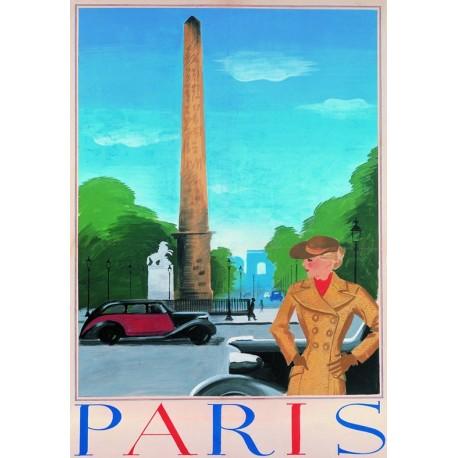 Affiche - Paris - L'Obélisque du Louxor (fin de série) - Inconnue