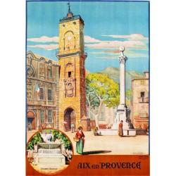 Affiche - Aix-en-Provence - Place de l'Hôtel-de-Ville (rupture définitive)