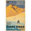 Affiche - Sports d'hiver au Mont-Dore (rupture définitive)