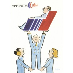 Affiche - Attitude plus (fin de série) - Air France