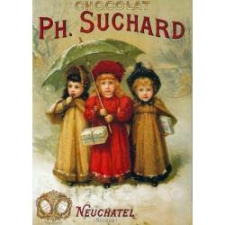 Affiche - Trois enfants - Chocolat Suchard