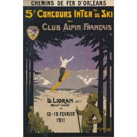 Affiche - Le Lioran - Concours de ski