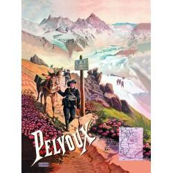 Affiche - Pelvoux - Col des Chamois (fin de série) - PLM