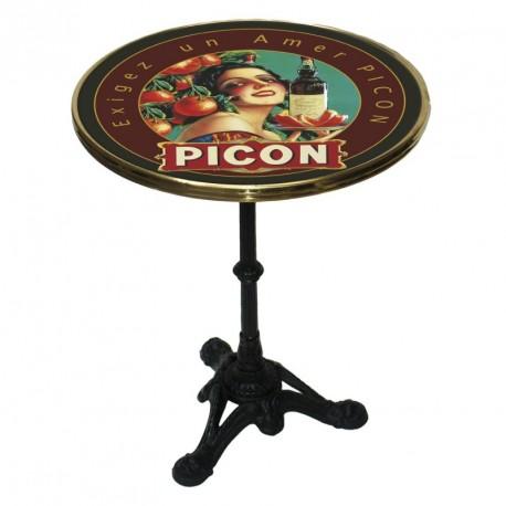 Table de bistrot émaillée - Apéritif Picon