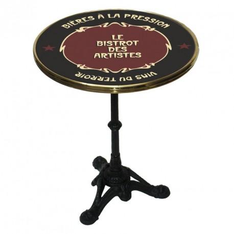 Table de bistrot émaillée - Bistrot des artistes - Bistrot des artistes