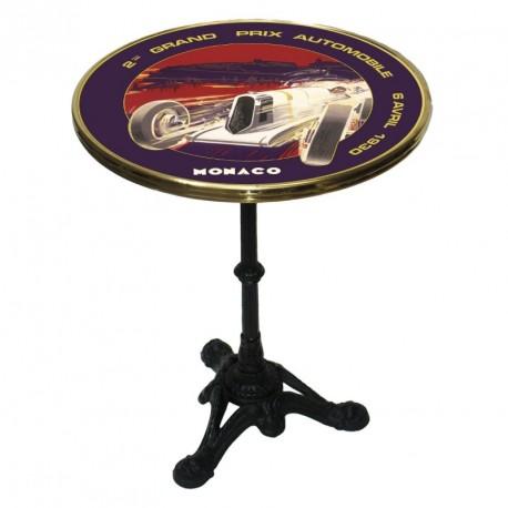 Table de bistrot émaillée - Grand Prix de Monaco de 1930 - Ville de Monaco