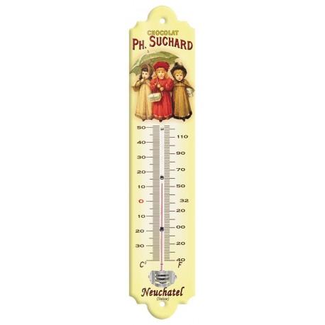 Thermomètre - Trois enfants - Chocolat Suchard